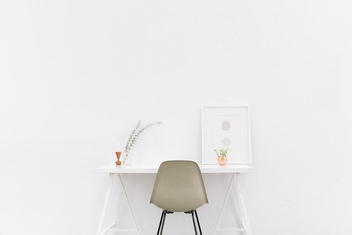 white minimal workspace