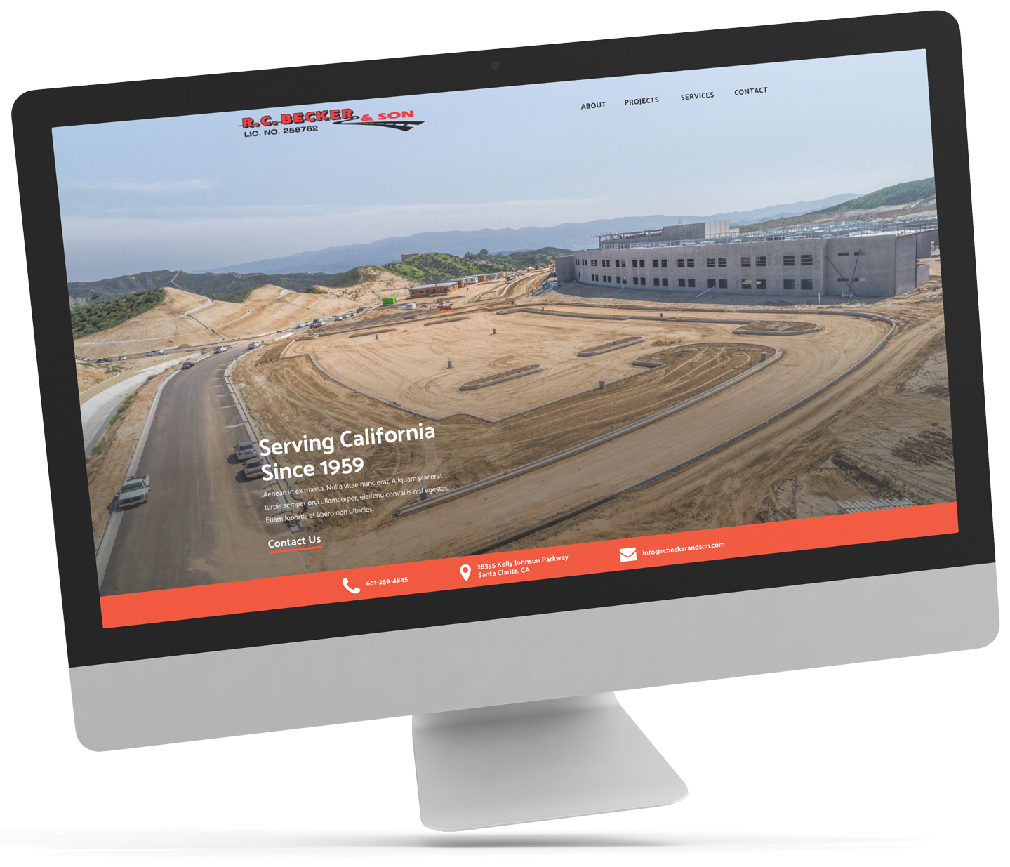 Construction Website Design Project - 95Visual
