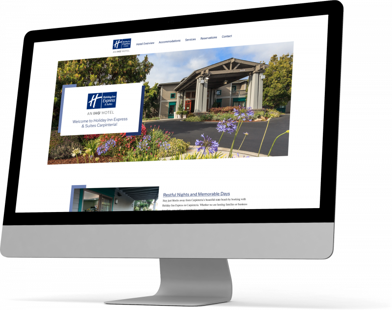 Homepage mockup of Carpinteria Express Hotel
