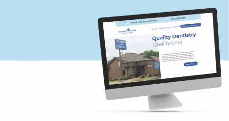 Newman Family Dental Website mockup
